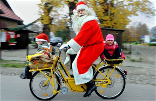 Santa on his route