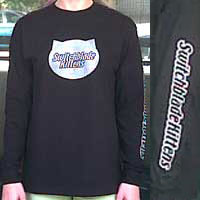 Black Long Sleeve Shirt with Silver Shimmer Logo