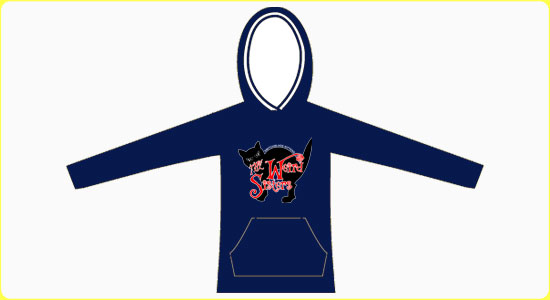 The Weird Sisters Cat Hoodie in Navy (large image)
