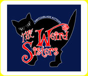 The Weird Sisters Zip-up Cat Hoodie in Navy