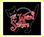 The Weird Sisters Cat Tee in Black