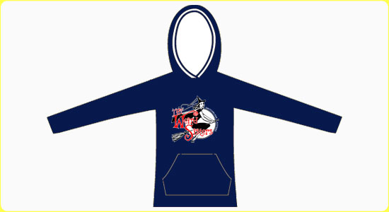 The Weird Sisters Witch Hoodie in Navy (large image)